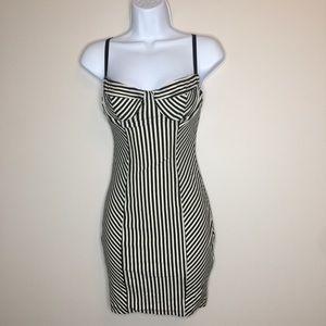 American Apparel Striped Bra Bodycon Slip Dress